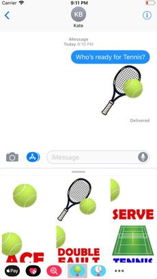 Animated Tennis Stickers