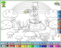 Coloring : Daughter leprechaun
