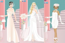 Spring bride dress up game