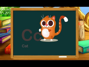 ABC Kids Games Words - Cat Animal First Steps Draw