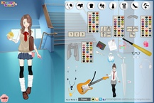 Mega School girl dress up game