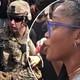 Keke Palmer convinces members of the National Guard to take a knee