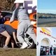 Man loses his pants in brawl outside new In-N-Out Burger in Colorado as 14-hour line blocks highway
